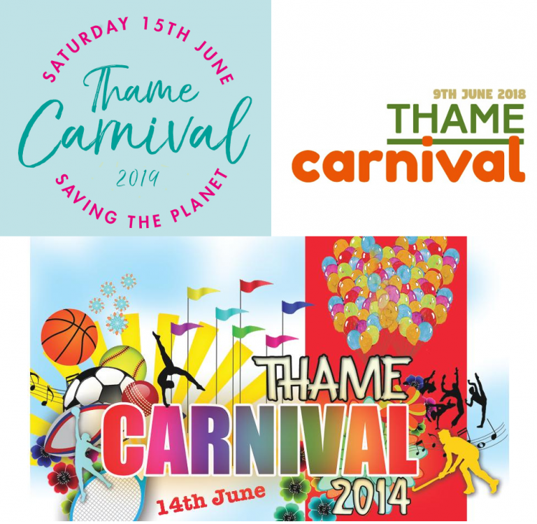 Previous Thame Carnival logos